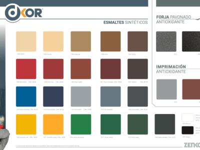 Carta Colors Esmalts Sintètics Lluents DKOR