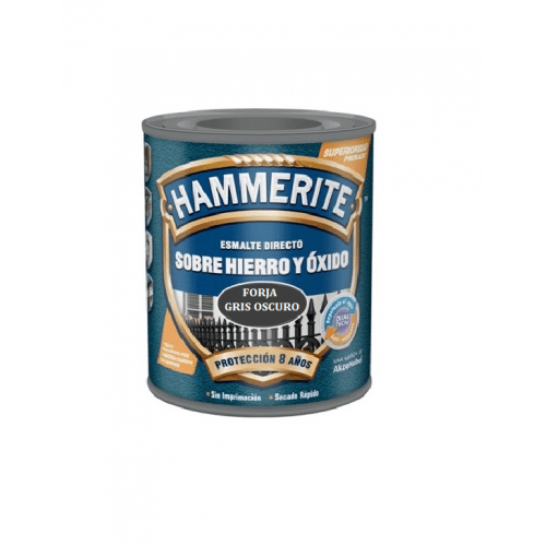 Esmalte Hammerite forja gris oscuro