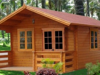 Casa de fusta jardí