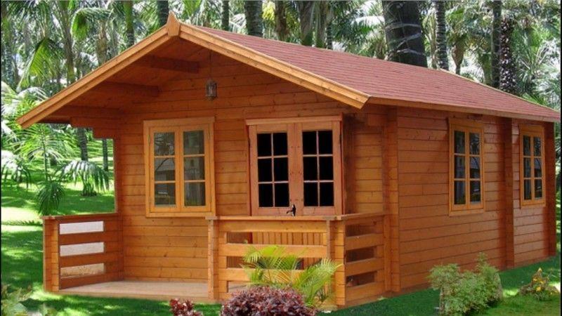 Casa de madera jardín