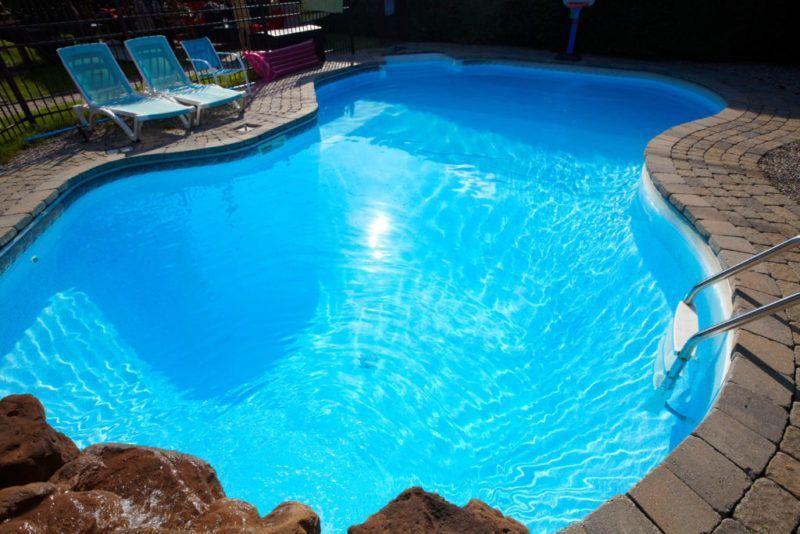 Pintar piscina azul