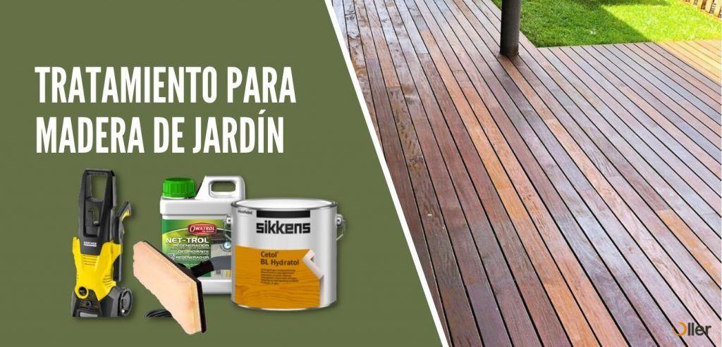 tratamiento madera jardin