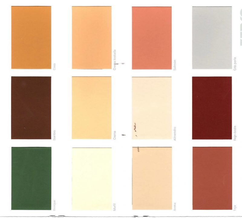 pintura fachada carta colores