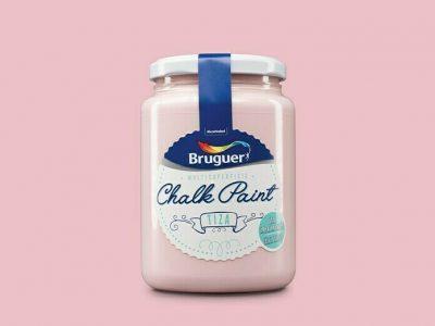 chalk paint bruguer rosa vintage